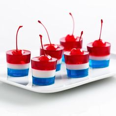July 4th Jello Firecracker Treat – Top Easy Patriotic Holiday Snack Food Design…