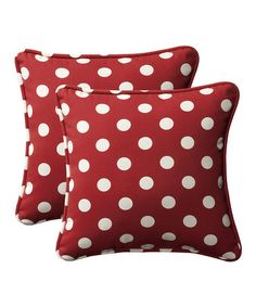 Look what I found on #zulily! Red Polka Dot Indoor/outdoor Throw Pillow - Set of Two #zulilyfinds