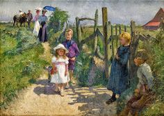 During his life, a Belgian painter Évariste Carpentier (1845-1922), achieved a great success. Throughout his career, he won many prizes and awards at international exhibitions, both in Europe and in the United States, receiving the golden medals at Antwerp, Munich and Berlin for Summer sun (1896), Paris, Amsterdam, Barcelona and Nice.