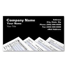 Federal Tax Forms Business Card  Business Cards Card Templates