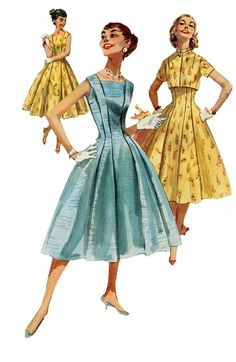1950s Simplicity 1570 Day Cocktail Evening by DesignRewindFashions, $36.00