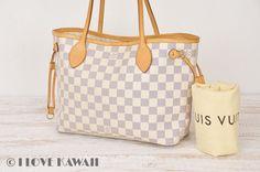 Louis Vuitton Damier Azur Neverfull PM Tote Shoulder Bag N51110