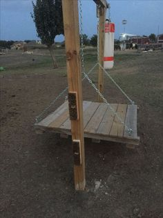 Our Goat play area with scratching brushes swing and a boxing bag. - The Best Goat Playground Ideas, Tips, Plans and Images Keeping Goats, Raising Goats, Goat Playground, Playground Ideas, Fainting Goat, Goat Shelter, Goat Pen, Goat Care, Nigerian Dwarf Goats