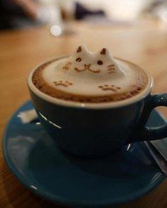 Kitty!  #coffee #latte #latte_art #coffee_art