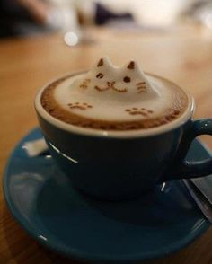 Kitty!  #coffee #latte #latte_art #coffee_art
