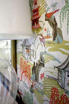 DIY Fabric Wall In The Girls' Bedroom