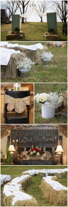 Ideas for a farm wedding! @Kayla Barkett Barkett Barkett Barkett Hawkinson