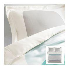 MALIN FIGUR Housse de couette et 2 taies IKEA Satin de lyocell tissé pour un linge de lit doux, soyeux et brillant.