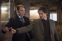 Mads Mikkelsen / Hannibal and Hugh Dancy / Will Graham (high quality)