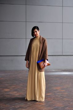 brown with  a pop of blue