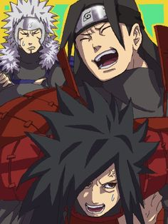 Tobirama, Hashirama, and Madara from Naruto