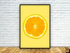 Orange print, Orange Art Wall, Kitchen Art, kitchen Wall Art, Kitchen Decor, Kitchen Prints, Fruit Print, Tropical Print, Summer Print by PrintmyInk on Etsy