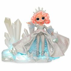 LOL Surprise OMG Crystal Star 2019 Collector Edition Doll Winter Disco in Hand for sale online Glitter Globes, Fantasias Halloween, Toys Uk, Glitter Hair, Ice Sculptures, Doll Stands, Lol Dolls, Disco Ball, Surprise Gifts