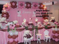 decoracao de festa infantil rosa e marrom - Pesquisa Google