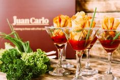 The Money Bag by Juan Carlo is a deep-fried pouch of pork, shrimp and leeks served with conpellejo sauce. Shrimp, Choices, Alcoholic Drinks, Pork, Menu, Stuffed Peppers, Dishes, Vegetables, Bag