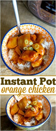 The best Instant Pot orange chicken recipe I've found so far! Super easy to … The best Instant Pot orange chicken recipe I've found so far! Super easy to make in less than 10 minutes and a healthy pressure cooker recipe too. via /thetypicalmom/ Best Instant Pot Recipe, Instant Pot Dinner Recipes, Slow Cooker Recipes, Crockpot Recipes, Healthy Recipes, Healthy Pressure Cooker Recipes, Easy Recipes, Healthy Orange Chicken, Instant Pot Pressure Cooker