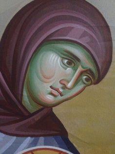 Iconographer Dimitris Maniatis – icoana Orthodox Icons, Ikon, Vignettes, Fresco, Amazing, Mai, Paintings, Face, To Study