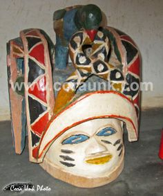 Guelede is a mask from Benin originality of Nago and Yoruba people in Benin