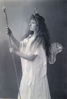 """Torquay Operatic Society (amateur), """"Iolanthe,"""" 1904 (done again only 6 years after their 1898 production and with somewhat less attention to replicating the original DOC costumes for some characters), Ethel Job as Iolanthe, costume design heavily influenced by the costumes of the original DOC production and subsequent DOC tours."""