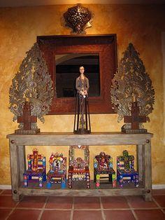Inside Coreen Cordova's home.