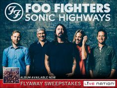 Check out The Foo Fighters Flyaway Sweepstakes Win a chance to go see The Foo Fighters...http://bit.ly/1vmFxrC