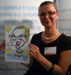 Caricatures at West Midlands Chamber of Commerce Exhibition!