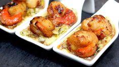 La succulente noix de saint jacques fondue de poireaux Sauce Au Foie Gras, Scallops, Pretzel Bites, Baked Potato, Bread, Chicken, Baking, Ethnic Recipes, Food