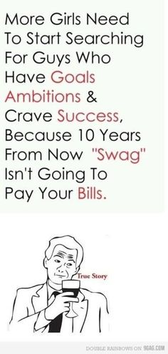 Swag + ambitions please