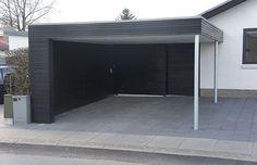 carport on house Modern Carport, Modern Garage, Shed Plans, House Plans, Carport Garage, Ultimate Garage, Carport Designs, Barndominium Floor Plans, Simple Shed