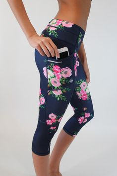 Pocket Capris - Rosa High quality fabric, 3 total pockets and only $36 from www.senitaathletics.com