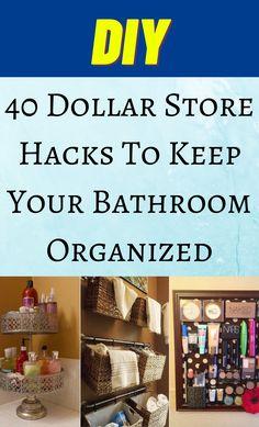 Bathroom Organization, Organization Hacks, Organized Bathroom, Dollar Store Hacks, Dollar Stores, Hacks Diy, Cleaning Hacks, D 20, Diy Cleaners