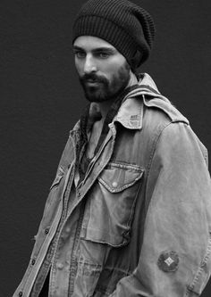 When bearded man wear hats, it's a beautiful balance of textures. niko ohlsson