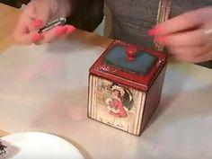 Леля Раевская Новогодний короб для игрушек Одношаговый кракелюр - YouTube