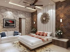 Apartment Bedroom Design, Bedroom Furniture Design, Bed Furniture Design, Home Room Design, Modern Bedroom Interior, Interior Design Bedroom, Indian Bedroom Decor, Room Design Bedroom, Ceiling Design Bedroom