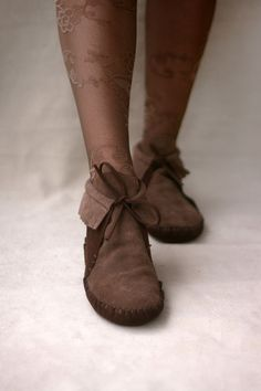 Brown Lupus  Handmade Leather flat boho shoes by TheDrifterLeather, $175.00