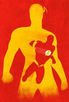 JLA The Flash Minimalist 18x24 DC Comics Justice by MarkItZeroNET, $30.00