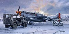 P-51 Mustang in England, winter 1944