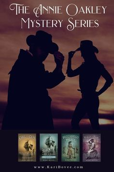 Set in the late 1800's, these historical fiction books portray the iconic female sharpshooter as an amateur sleuth, and follows her adventures with the Wild West Show at home and abroad.#western #fiction #historical #novel #book #series #wildwest #frontier #oldwest #cowgirl #mystery