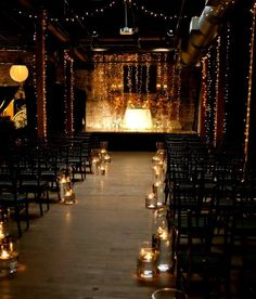 Check out this industrial style wedding ceremony - different but beautiful!