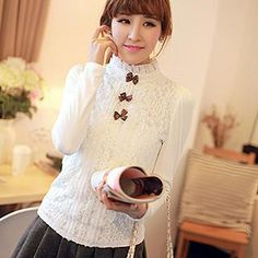 Buy 'Hanee – Bow-Detail Lace Panel Blouse' with Free International Shipping at YesStyle.com. Browse and shop for thousands of Asian fashion items from China and more!