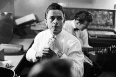A young Johnny Cash - getting ready to go on stage