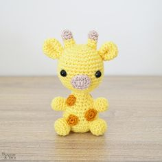 Crochet Kawaii, Cute Crochet, Crochet Crafts, Crochet Dolls, Crochet Projects, Animal Knitting Patterns, Crochet Toys Patterns, Stuffed Animal Patterns, Crochet Giraffe Pattern