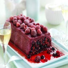 Summer Berry Pudding with Mascarpone Cream