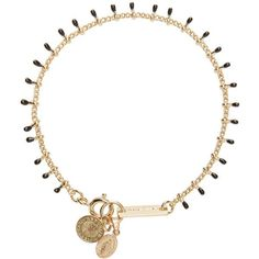 Isabel Marant Gold and Black Beaded Casablanca Bracelet ($70) ❤ liked on Polyvore featuring jewelry, bracelets, necklaces, accessories, beaded bangles, beaded jewelry, beading jewelry, coin jewelry and black and gold jewelry