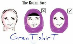 Round face hijab
