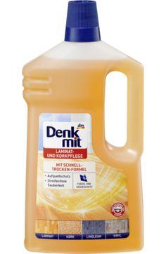 Die Laminat- und Korkpflege von Denkmit mit Schnell-Trocken-Formel reinigt und pflegt alle Laminat- und Korkböden sowie gewachste Holzböden. Spezielle...