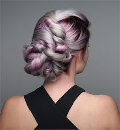 HOW-TO: Smokey Lavender Hair Color with Face-Framing Silver Accent & Root Shadow - Kiss & Makeup - Lilac Hair Silver Lavender Hair, Lavender Hair Colors, Lilac Hair, Pastel Hair, Silver Hair, Up Hairstyles, Hairstyle Pics, Style Hairstyle, Decent Hairstyle
