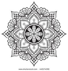 Flower Mandalas. Vintage decorative elements. Oriental pattern illustration. Islam, Arabic, Indian, turkish, pakistan, chinese, ottoman motifs