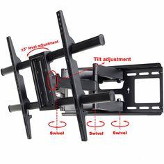 "Amazon.com: VideoSecu MW380B3 Full Motion Articulating TV Wall Mount Bracket for most 37""-70"" LED LCD Plasma HDTV up to 165 lbs with VESA 684x400 600x400 400x400 200x200mm, Dual Arm pulls out up to 16"" AW8: Home Audio & Theater"