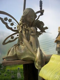 April's Country Life Blog: Fairy at Heavenly Scent Herb Farm for Dana